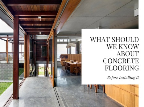 What Should We Know about Concrete Flooring Before Installing It | Creative Ideas | Scoop.it