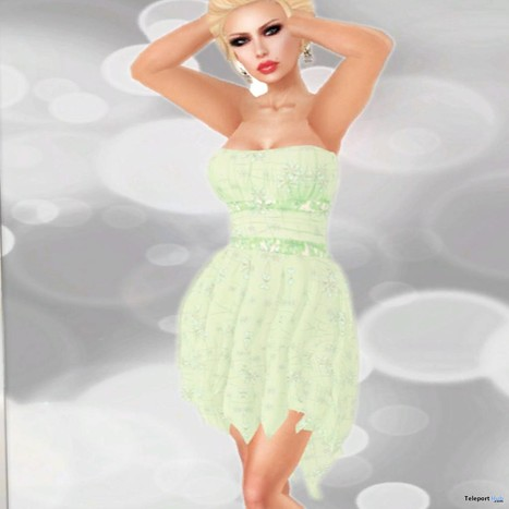 Drapped Flower Dress Group Gift by X-TREME Vogue | Teleport Hub - Second Life Freebies | Second Life Freebies | Scoop.it