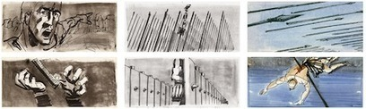 Saul Bass' Vivid Storyboards for Kubrick's Spartacus (1960) | Books, Photo, Video and Film | Scoop.it