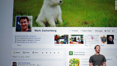 """You'll freak when you see the new Facebook - Pete Cashmore in CNN.com   The """"New Facebook""""   Scoop.it"""