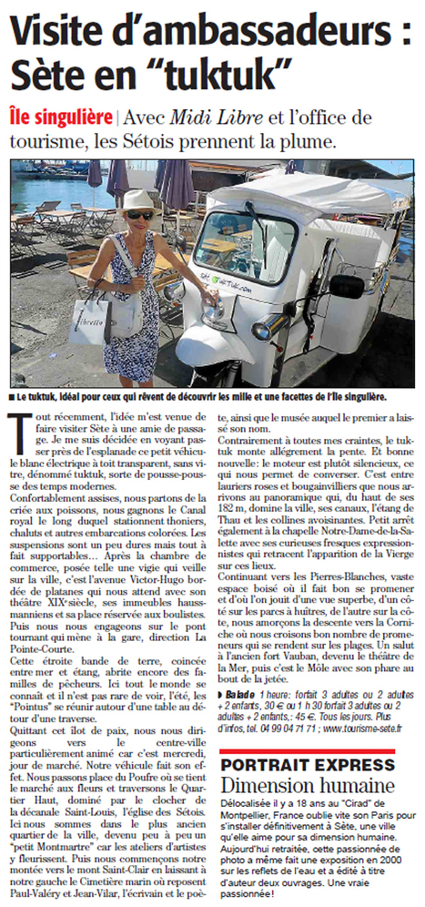 Découvrez Sète en tuktuk | Sète Tourisme : les ambassadeurs-reporters sur le terrain | Scoop.it
