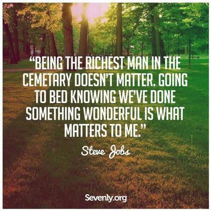Being the richest man in the cemetery doesn't matter to me. Going to... | Steve Jobs Picture Quotes | Quoteswave | Steve Jobs Quotes | Scoop.it