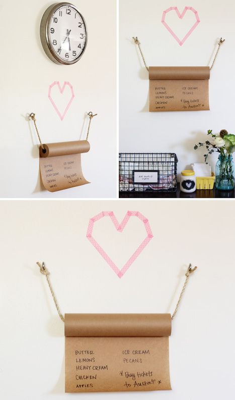 DIY Kraft Paper Grocery List | At Home In Love | DIY crafts and more | Scoop.it