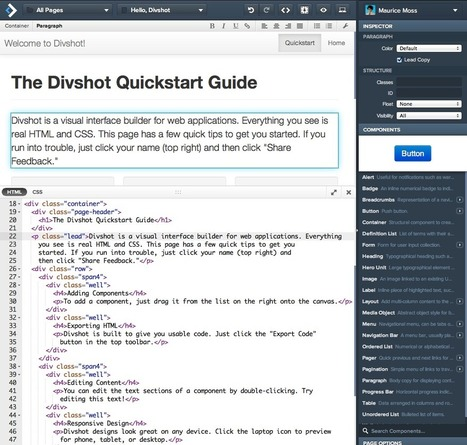 Interface Builder for Web Apps - Divshot | technologies | Scoop.it