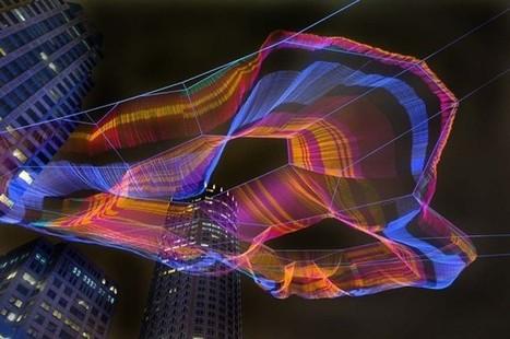 Quand une sculpture TEXTILE redessine le paysage urbain - Le Moniteur | Machines Pensantes | Scoop.it