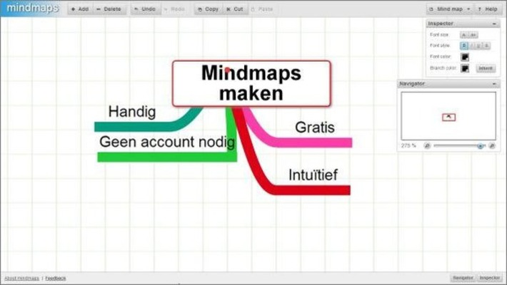 Mindmaps: gratis, zonder account en onbeperkt mindmappen in je browser! | Educatief Internet - Gespot op 't Web | Scoop.it