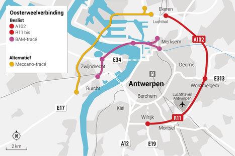 Vlaamse regering kiest voor Oosterweelverbinding - De Standaard   oosterweel en BAM-tracé   Scoop.it