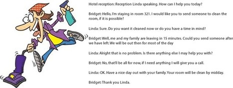 Getting your hotel room cleaned conversation with 2 people | Learning Basic English, to Advanced Over 700 On-Line Lessons and Exercises Free | Scoop.it