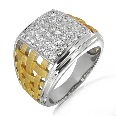 18K Gold and 1.23 Carat E Color and VS2 Clarity Diamond Designer Band   myglitzjewels   Scoop.it