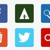Free Flat Social Media Icons (PNG & PSD)   World of #SEO, #SMM, #ContentMarketing, #DigitalMarketing   Scoop.it