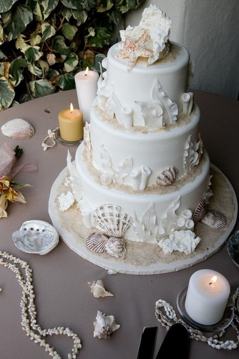 Beach theme wedding cakes | The Wedding House | wedding bands | Scoop.it