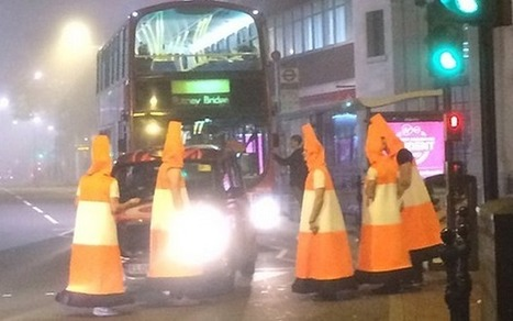 Police respond to call out about men dressed as traffic cones | Strange days indeed... | Scoop.it