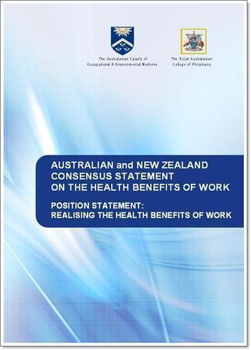 RACP: Realising the Health Benefits of Work | Patient Information | Scoop.it