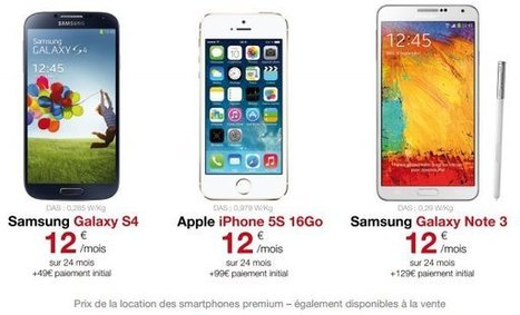 Free Mobile : smarphones en location, iPhone 5s ou S4 à 12 euros par mois | Geeks | Scoop.it