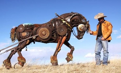 Wonderfully Lively Scrap Metal Animal Sculptures by John Lopez | Metal Art | Scoop.it