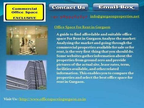 Office Space for Rent in Gurgaon Ppt Presentation | Warehouse in Gurgaon | 9899464647 | Scoop.it