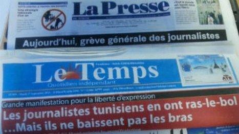 La presse tunisienne manifeste pour dénoncer les pressions | DocPresseESJ | Scoop.it