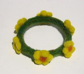 Green Dot Creations: The Valley Bracelet | Needle felting art by Green Dot Creations' Studio! | Scoop.it