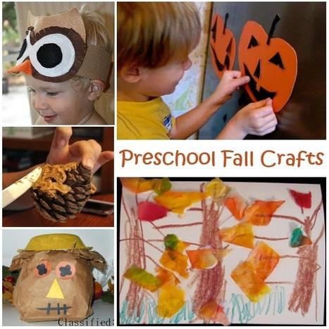 Preschool Fall Crafts - A It's Playtime Roundup | Kindergarten | Scoop.it