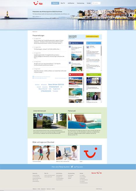 Newsroom TUI Deutschland | Social Media Newsrooms | Scoop.it