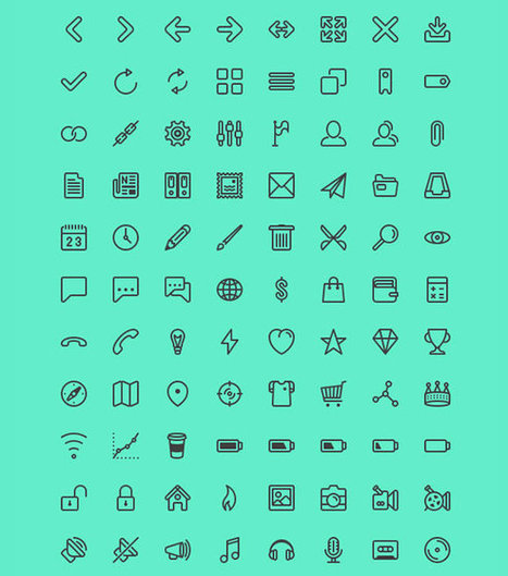 9 Free Icon Sets to Diversify your Library | Freebies | Inspired By Design | Scoop.it