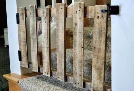 Una buena idea: barrera y puerta de seguridad para escaleras con un palé | Cuines | Scoop.it