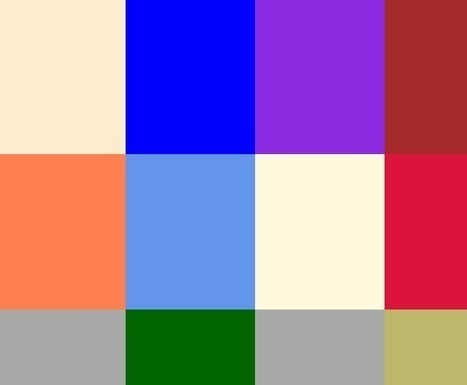 147 Colors Grid - CSS Color Names | TICE, Web 2.0, logiciels libres | Scoop.it