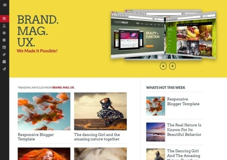 Brand Mag UX Responsive Blogger Template Free Download | Blog Addons | Scoop.it