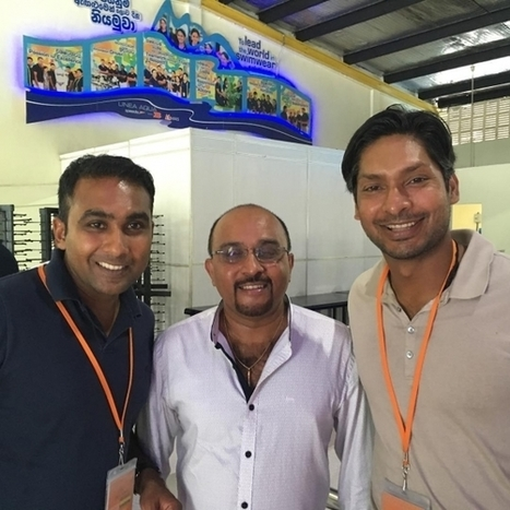 (Photos) Jayawardena and Sangakkara visit a garment factory | Sri Lanka Cricket | Scoop.it