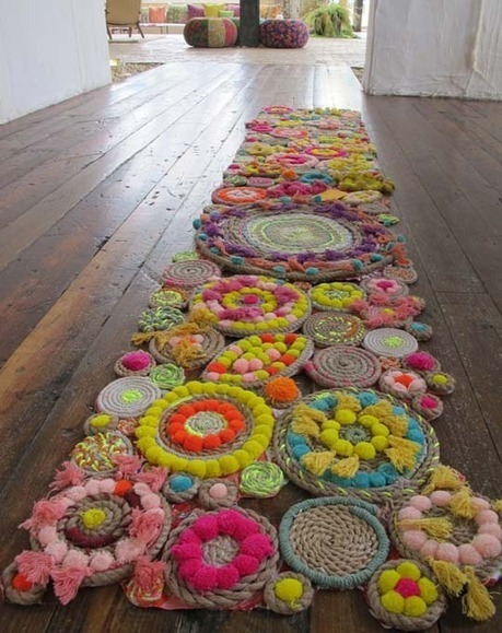 Amazing DIY Rope Rug Free People | Apartment Therapy | DIY  Crochet | Scoop.it