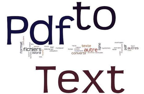 Extraire le texte d'un fichier Pdf: Deux programmes Windows gratuits | François MAGNAN  Formateur Consultant | Scoop.it