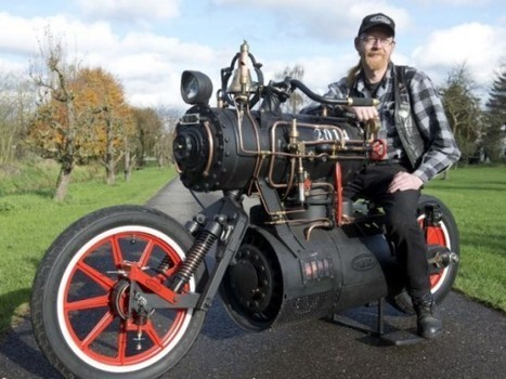This Steam-Powered Motorcycle Is Any Steampunk's Fan Dream Come True | Strange days indeed... | Scoop.it