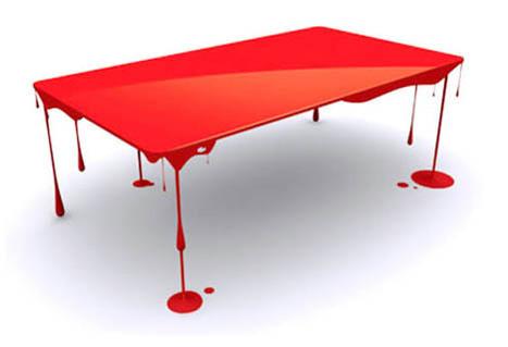 Brilliant Blood Red Glossy Art Table Design | Designs & Ideas on Dornob | Interior Life | Scoop.it