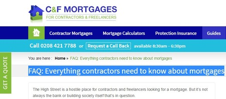 FAQ: Everything contractors need to know about mortgages | Contractor Mortgages | Scoop.it