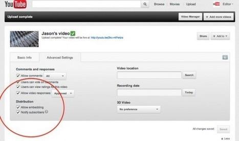 Youtube añade funciones para darnos más control a la hora de publicar vídeos | Tic, Tac... y un poquito más | Scoop.it
