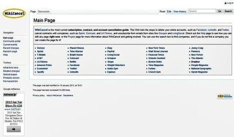 WikiCancel, aprende como borrar tu cuenta de redes sociales y servicios que ya no usas | Recull diari | Scoop.it