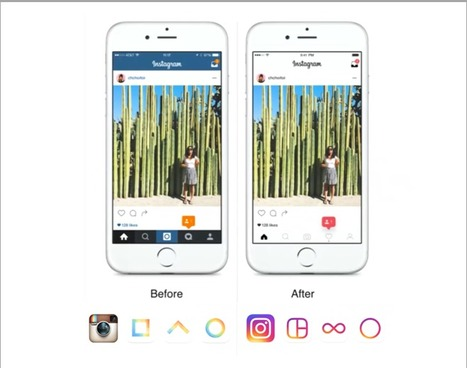Instagram's Big Redesign Goes Live with a Colorful New Icon, Black-and-White App, and More | SocialMoMojo Web | Scoop.it