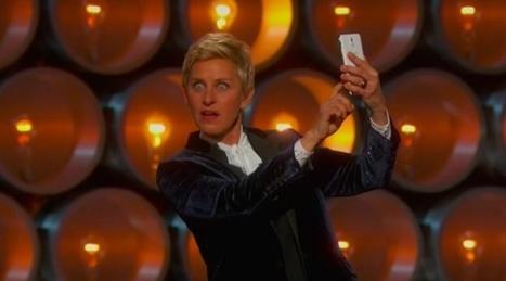 Oscars host Ellen DeGeneres poses for Samsung sponsored selfie, but tweets from her iPhone | Marketing in Motion | Scoop.it