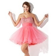 [US$ 144.99] A-Line/Princess Sweetheart Short/Mini Tulle Homecoming Dress With Ruffle Beading (022009105)   Fashion   Scoop.it