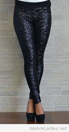 Sequin leggings with a sweater or tunic over   Pintast   Scoop.it