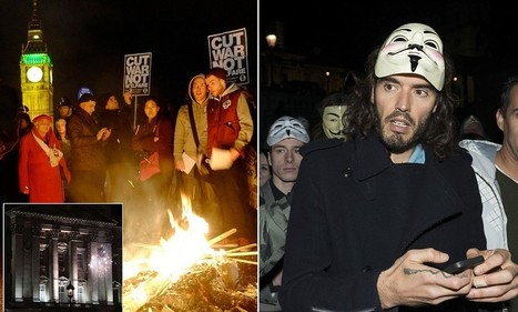 Russell Brand joins Anonymous protest as fireworks are fired at Palace | SocialAction2014 | Scoop.it
