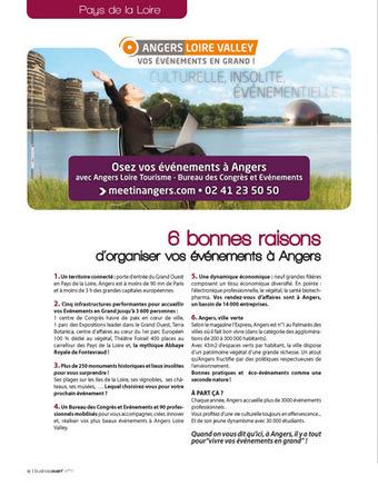 6 Bonnes raisons d'organiser vos événements à Angers ! | Le Tourisme d'Affaires | Scoop.it