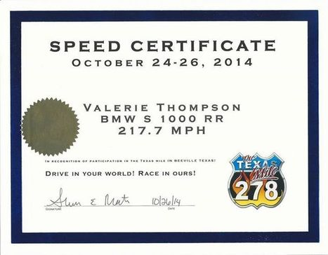 Talking Motorcycles with 7 time motorcycle land speed record holder Valerie Thompson tonight at 8pm Eastern LIVE! | Next Moto Champion | California Flat Track Association (CFTA) | Scoop.it
