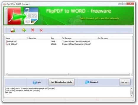 Flip PDF to Word, convertir ses PDF en DOC automatiquement ou en masse | elearningeducation | Scoop.it