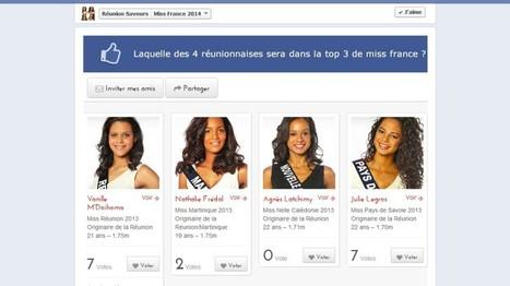 Fan Vote - Réunionnaises à Miss France - Concours Facebook Réunion saveurs | Vie de l'Agence Buzz Webdesign, Agence Web Réunion | Scoop.it