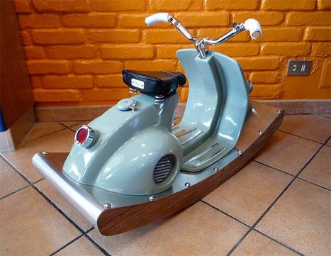 Scooter Vespa vintage à bascule pour enfant | Vespa | Scoop.it
