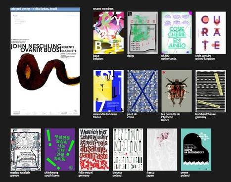 Curated Visual Collection Examples: Typo/Graphic Posters.com | Digitized media | Scoop.it