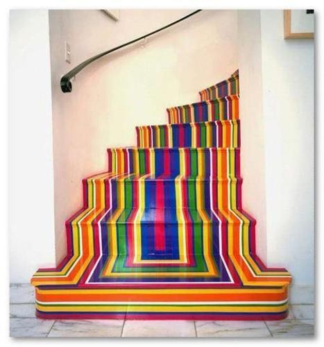 20 ideas para pintar las escaleras de madera - Escaleras para pintar ...