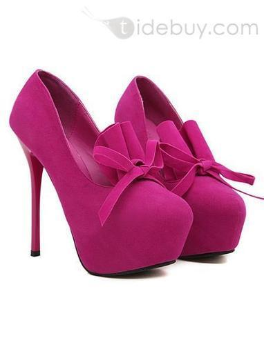 Perfect Fancy Bowknot Princess Round Toe Stiletto Heels Pump Shoes | fashion | Scoop.it
