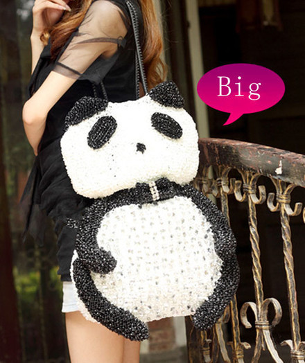 Big Anteprima Rhinestone Bags Version Panda Toy Handbags [women-bags-036] - $183.00 : Hello Kitty Bags For Ladies, Anteprima Bags Style Stereo Hello Kitty Bags ,Panda Bags , Diamond Bags For Womens... | Amazing Hello Kitty Bags | Scoop.it
